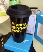 waldo Pancake Ceramic Travel Mug A VERY DIFFICULT MAN